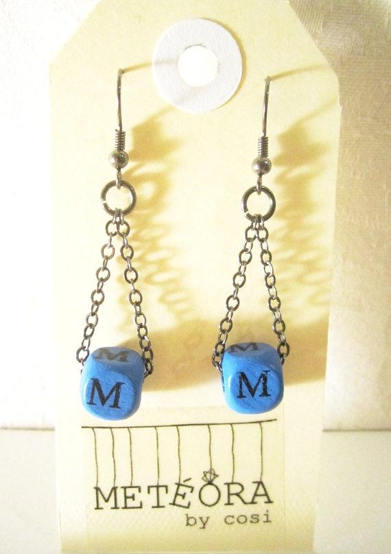 Dice Earrings M by meteorabycosi on Etsy, $8.00