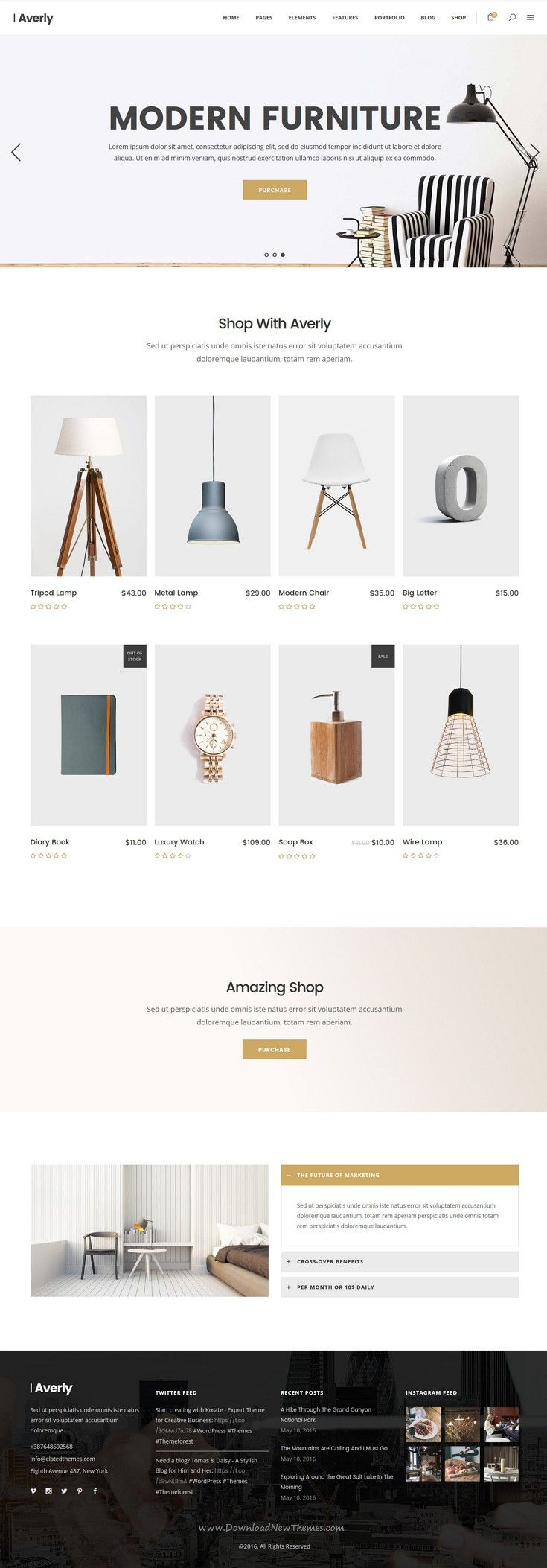 Averly is hip and creative WordPress theme for multipurpose website with 24+ stunning niche layouts and packed features. #furniture #decor #shop Download Now!