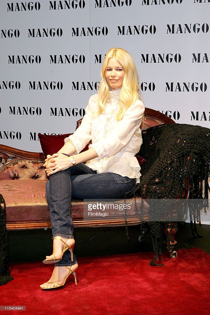 Claudia Schiffer during Claudia Schiffer Launches Autumn/Winter 2005 Mango Collection in London at Mango in London, Great Britain.