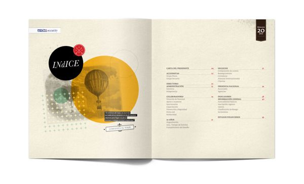 Annual report proposal on Behance