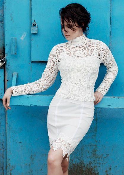 Fahriye Evcen - white dress