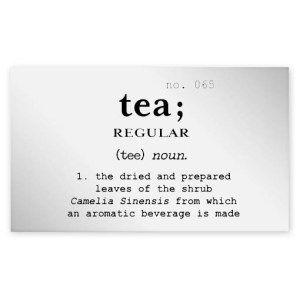 Regular Tea Clear Jar Label