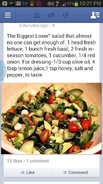 Biggest Loser Salad (MINUS THE CUCUMBER)