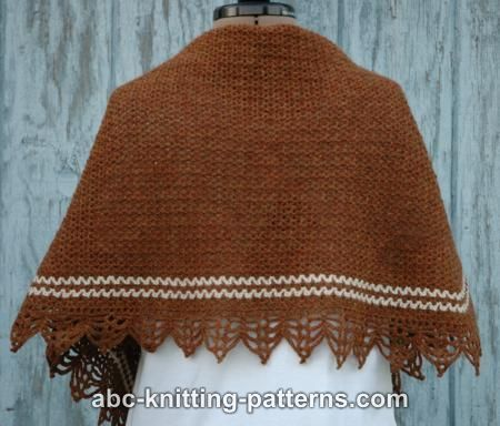 ABC Knitting Patterns - Pretty Stripe Shawl