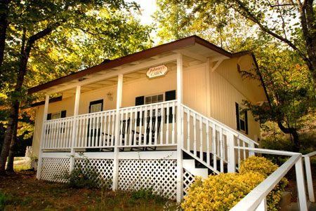 Lake Lure Inn in NC where Dirty Dancing was filmed.  You can stay in Johnny's Cabin!