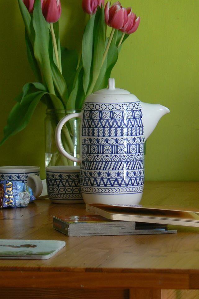čajový set modranska