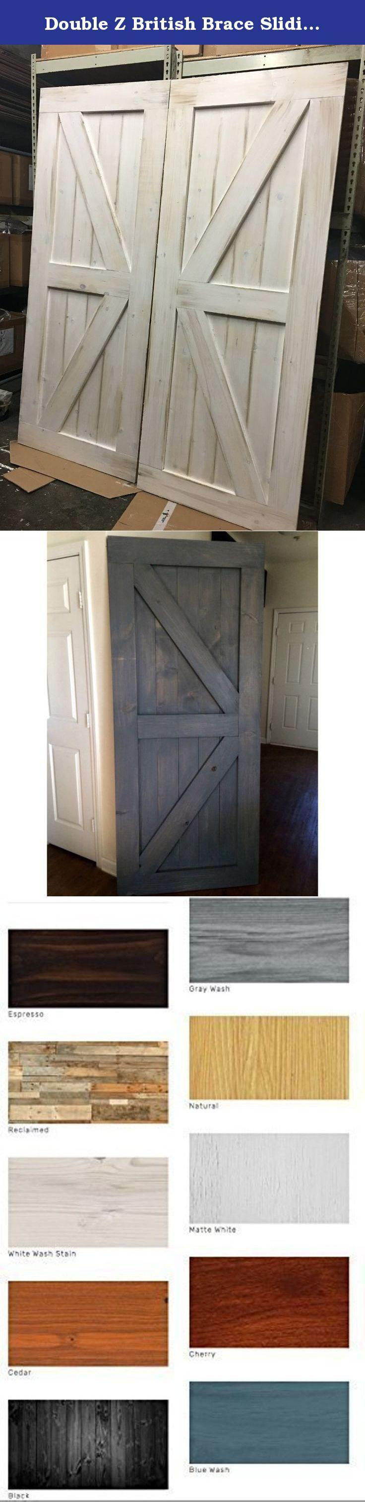 Barn door hardware rlp v track rectangular hanger reclaimed lumber - Double Z British Brace Sliding Barn Door Features A Double Z Pattern On Both Top