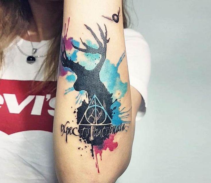 Expecto patronum tattoo by Ilaria Tattoo Art