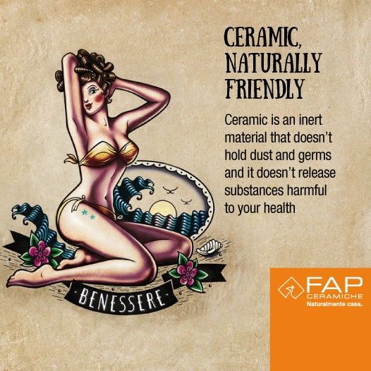Benessere/Well-being - Tatoo illustration by FAP Ceramiche