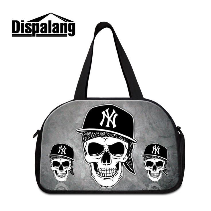 Large Cool Skull Printing Travel Duffle Bags Mens Womens Luggage Handbag Multifunction Shoulder Bags Big Weekender Duffle Bag