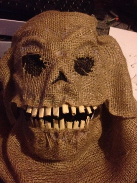 Burlap mask... Horrifyingly awesome!