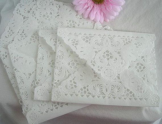 Vintage Doily Paper Lace Glassine Envelopes by AllThingsAngelas