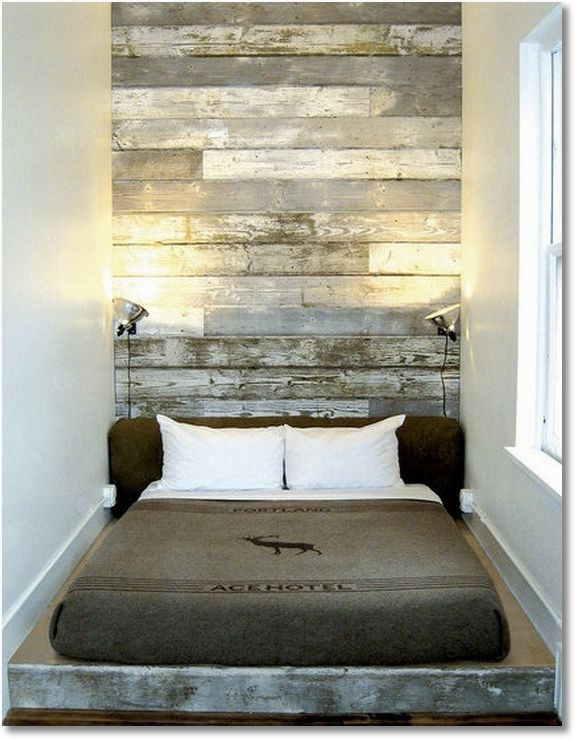 Using old barnboard to make a headboard!