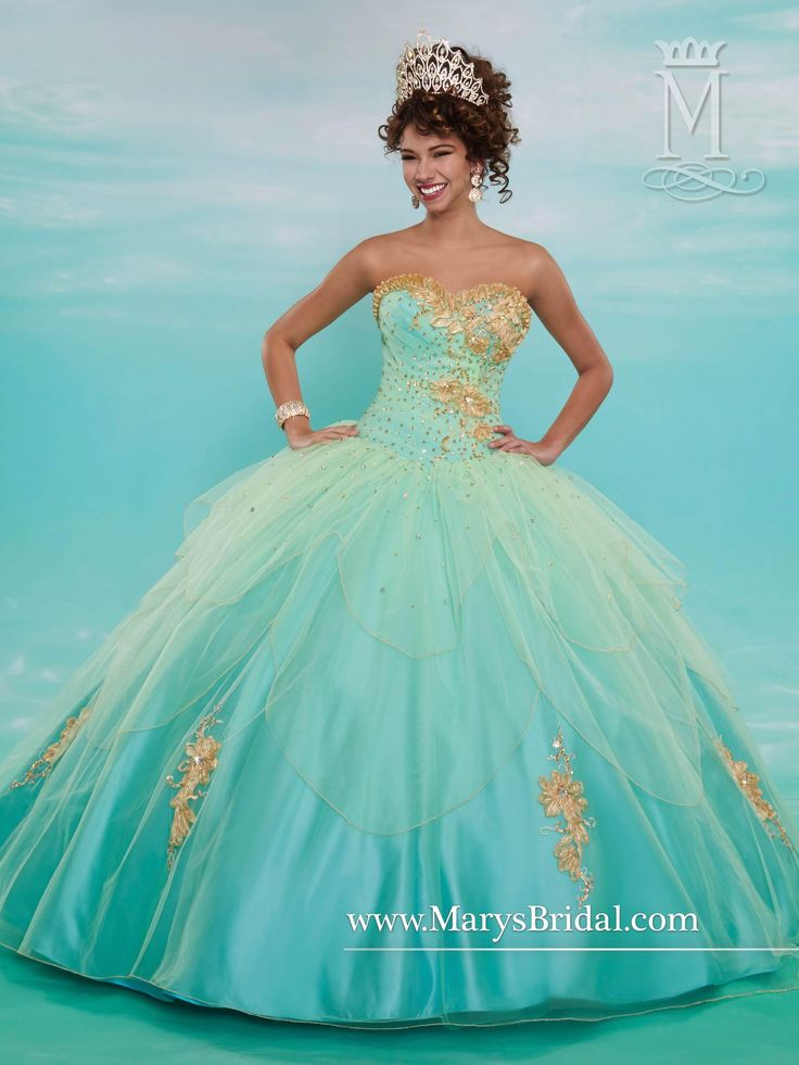15 Cute Things To Crochet This Winter: Mary's Mint Quinceanera Dresses 2015 Fall Strapless Beaded