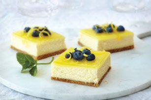 Delicious Double Lemon Cheesecake Bars - Foodista.com