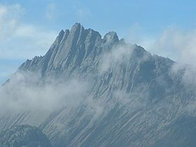 Puncak Jaya or Carstensz Pyramid is the highest point in Indonesia at 16,024 ft (4,884 m) and is the 9th most prominent peak with the same height.  The mountain is also the highest point in Oceania and is the highest point on an island.