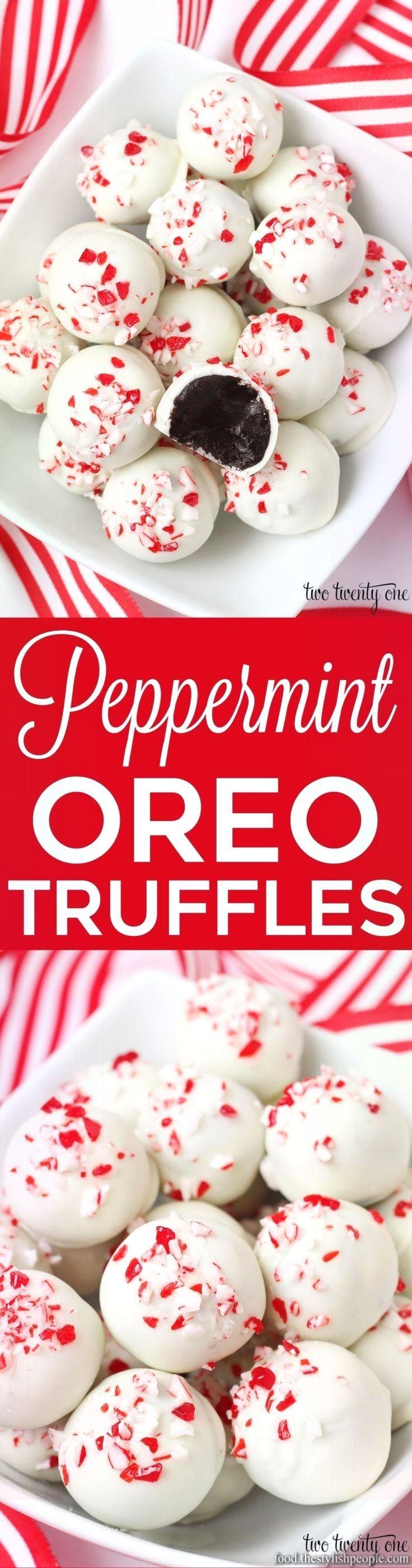Creative and Great Peppermint Oreo Truffles  – Baking – #Baking #Creative #great…