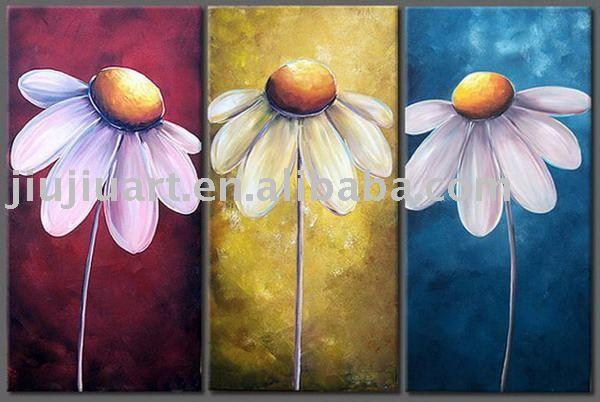 Modern Flower Paintings Canvas