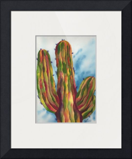 """Majestic+Saguaro+""+by+Gayela+Chapman,+Peoria,+AZ+//+Fine+Art+Painting+of+Magestic+Saguaro+1+by+Gayela+Chapman-McKelvie,+Gayela's+Premiere+Watercolor.++Majestic+Saguaro+Cactus+with+vivid+colors.++Inspired+by+the+Arizona+Sonoran+desert.+//+Imagekind.com+--+Buy+stunning+fine+art+prints,+framed+prints+and+canvas+prints+directly+from+independent+working+artists+and+photographers."
