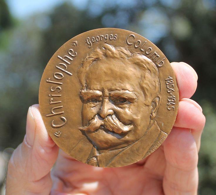 France, Ch. Colomb, cartoonist, scientist, botanist, Rodenfuser | Coins & Paper Money, Exonumia, Medals | eBay!