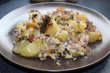 Gombás-szalonnás krumpli