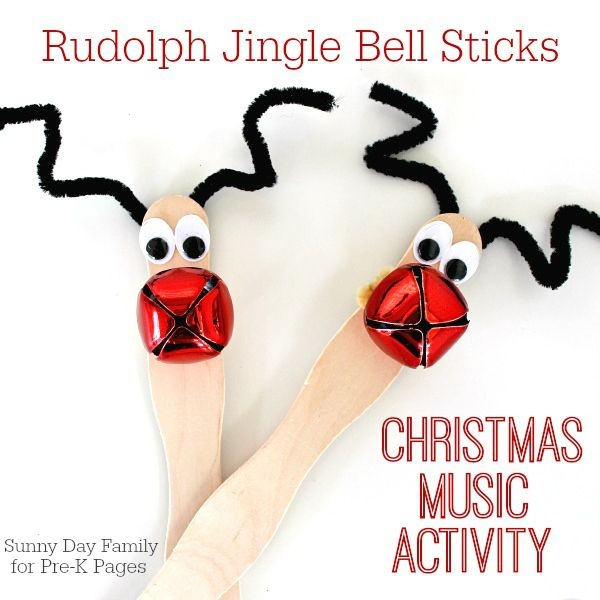 Christmas Jingle Bell Sticks - Pre-K Pages