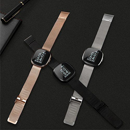 Stainless Steel Fitness Tracker TOM TONY Silver