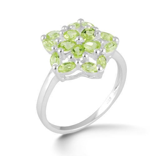 Semi Preciouse Green Peridot Jewelry Gemstone 925 Sterling Silver Ring SZ 8 #Rinnga