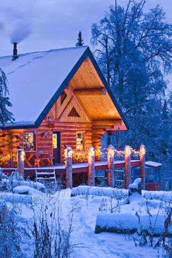 25 Breathtaking Forest-Fringed Wood Cabins - home decor,Decoration
