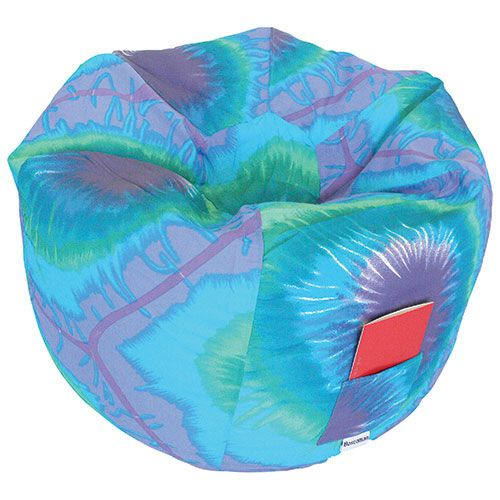 Round Contemporary Bean Bag Chair - Blue Periwinkle                                   - Online Only