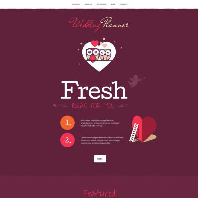 Wedding Planner WPML ready WordPress Template