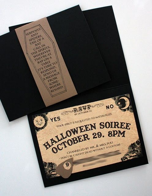 Best Halloween invites I've seen yet!!! It's really too bad that social networking site invites have made the traditional invitations unnecessary.