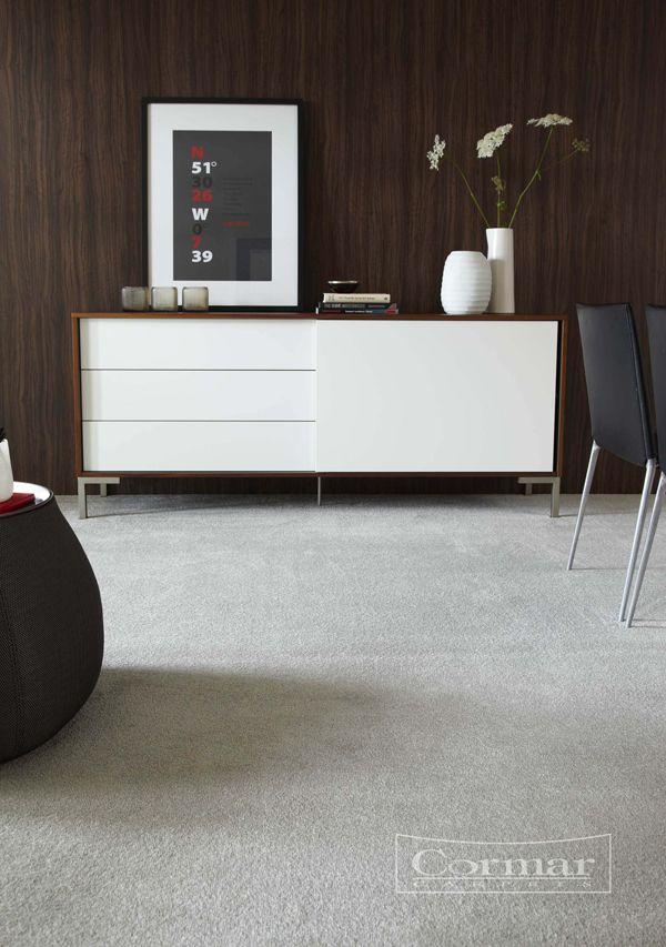 Cormar's Sensation Twist.  Colour Rhinestone.  A velvet, easy clean twist pile carpet in super soft grey.