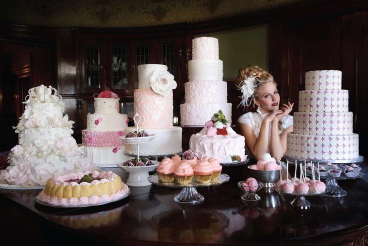 dessert display for st louis bride magazine wedding cakes