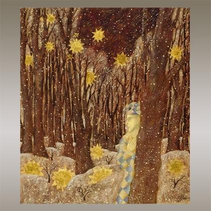 Картина «Падающие звезды в зимнем лесу»