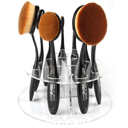 New Cosmetic Toothbrush Round Makeup Organizer