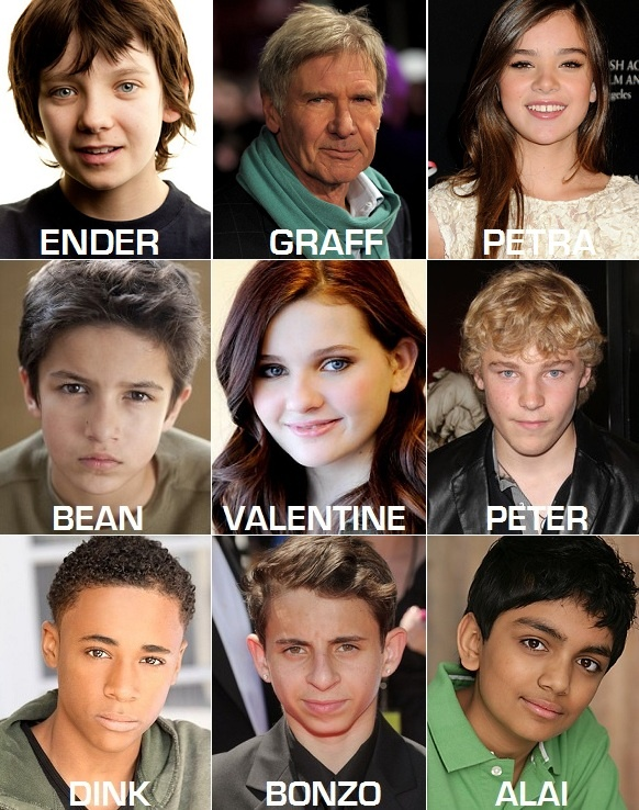Ender's Game Movie Cast....I first read this book nearly 16 years ago, and I've read it like 5 times since, I'm very excited, hope they don't screw it up.