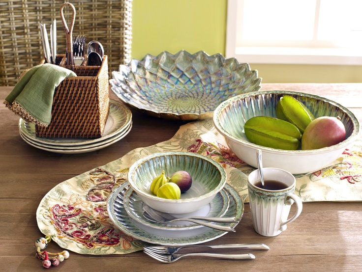 Pier 1 Seaside Dinnerware and Serveware with seafoam drip edges & 57 best Pier 1 Home images on Pinterest | Dish sets Dishes and For ...