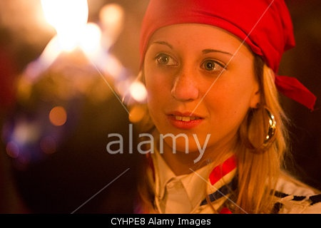 Lewes bonfire societes parade down the High Street of Lewes in East Sussex, UK. 5th November, 2012. #AlamyiPadApp    © Nick Savage / Alamy