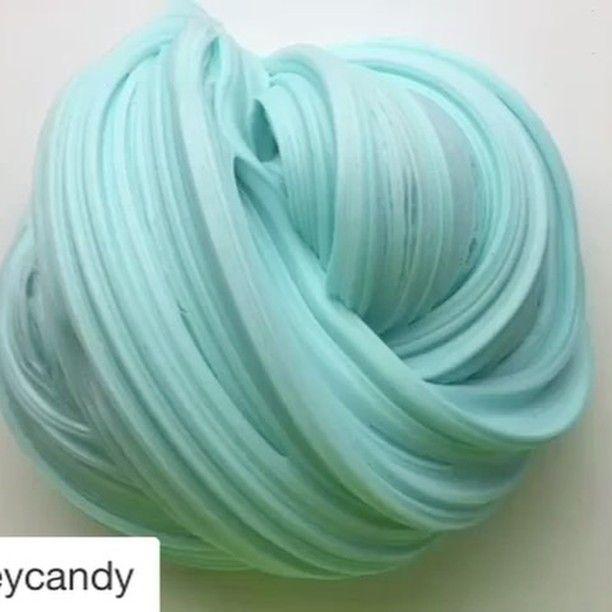 Mint green fluffy slime❄️ #slimelovers #like4like #slime #mintgreen #satisfyingvideos #satisfying ⭐️credit: @slimeycandy