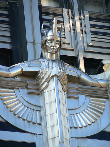 """Spirit of light"" on the Niagara Mohawk Power Building Syracuse NY.  Classic Art Deco design."