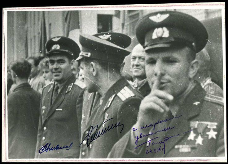 Yuri Gagarin, Gherman Titov, and Andriyan Nikolayev.
