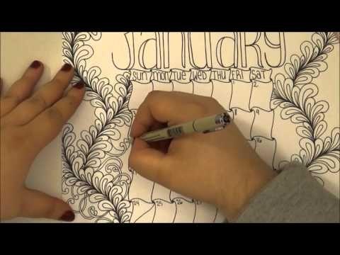 January Calendar Doodle - YouTube