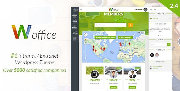 Download Woffice v2.5.4 - Intranet/Extranet WordPress Theme Nulled Latest Version