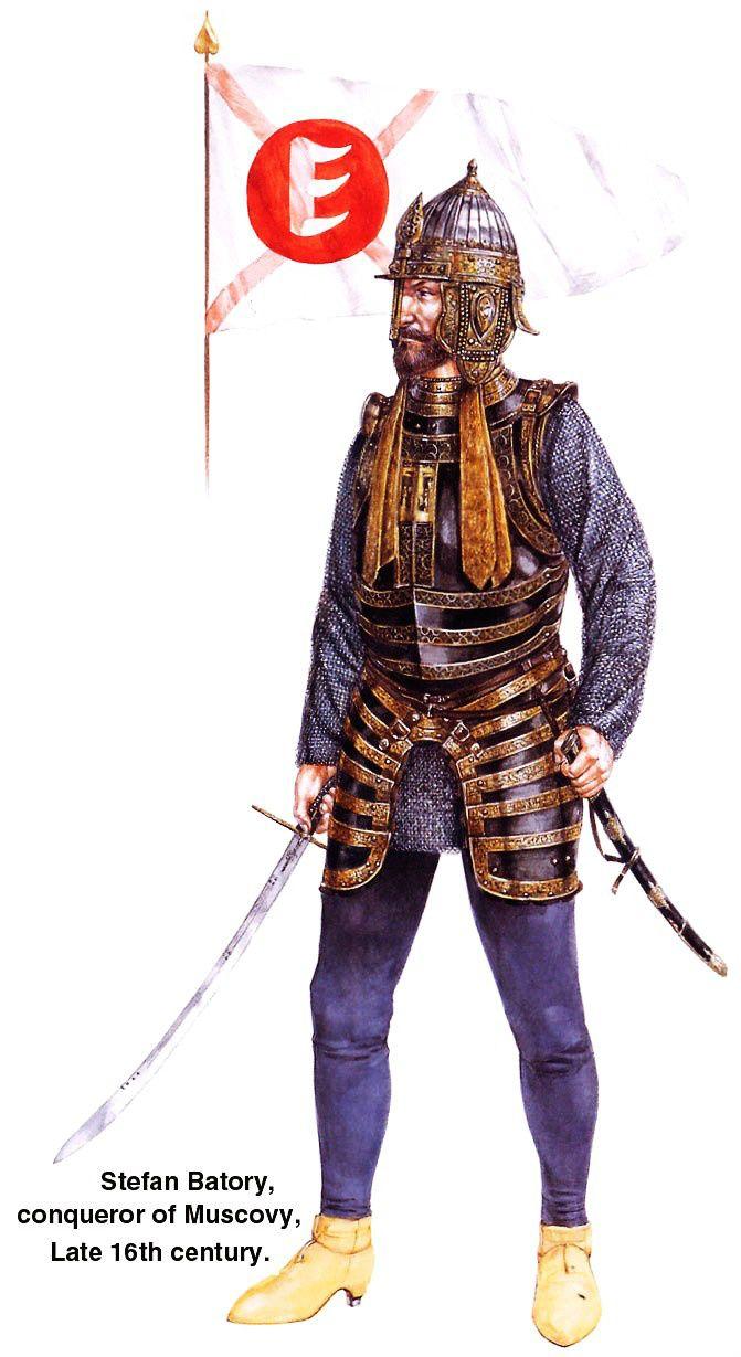 1590 c. Stefan Batory conquistador de Moscú