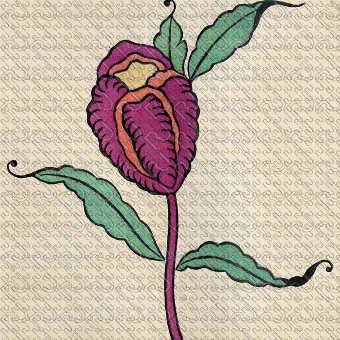 (9164) 20's flat graphic flower – anni 20 fiore piatto grafico (preview150dpi) – Imagesfashiontextiles