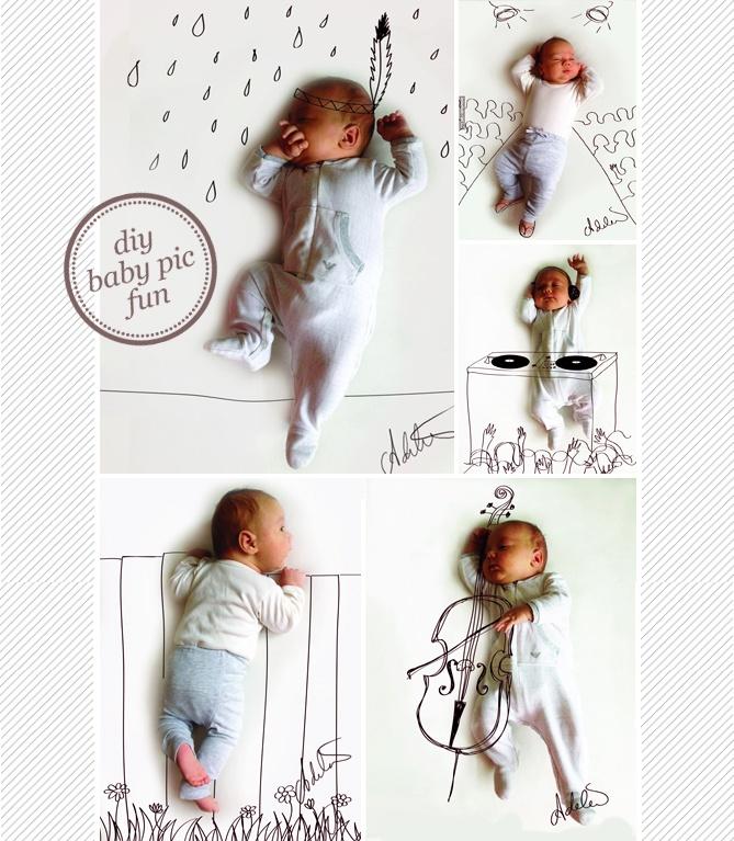 DIY Baby pic fun~!