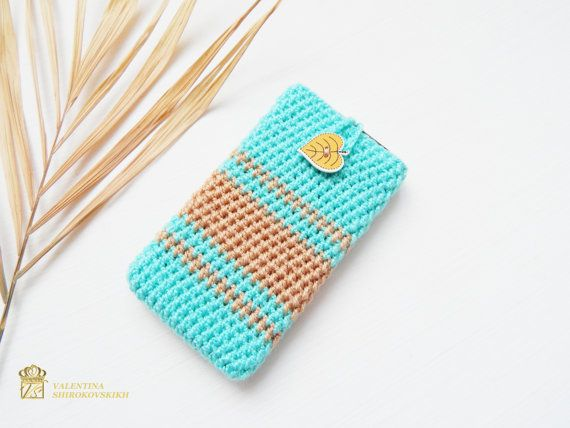 Turquoise phone case. Cell phone case. Cell phone covers. Phone Accessories. Electronics Cover. Cell Phone Cozy. Crochet phone cover. black friday The soft phone pouch fits perfectly as a sleeve to your device to provide strong and cozy protection from scratches and light hits. Cell Phone