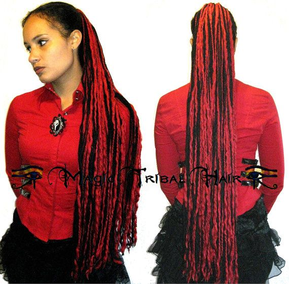 Hey, I found this really awesome Etsy listing at https://www.etsy.com/listing/86894001/goth-devil-dread-falls-98-single-dreads