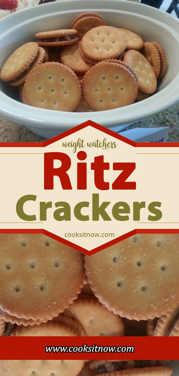Ritz Crackers Weight Watchers Smart Points Friendl…